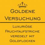 Luxuriöse Fruchtaufstriche veredelt mit Goldflocken