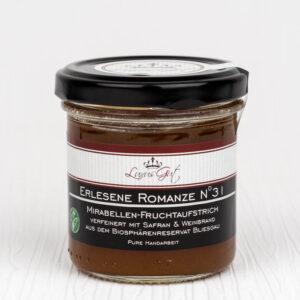 Mirabellen-Marmelade aus dem Biosphaerenreservat Bliesgau verfeinert mit Safran & Weinbrand